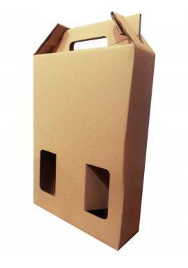 Pack 10 cajas de cartón 3 botellas de vino Kraft