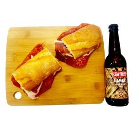 Bocadillo Jamón Ibérico + Cerveza Artesana